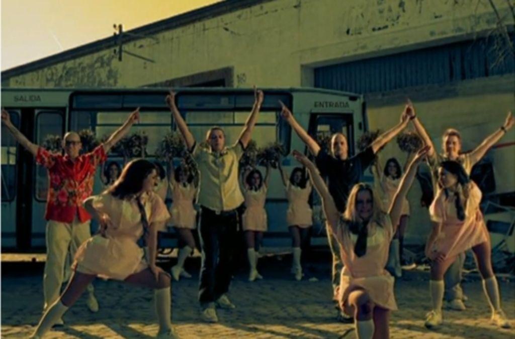 """""""MfG"""" ist einer der bekanntesten Songs der Fantas und auch für das Video haben die Vier und ihr Regisseur Zoran Bihac was ausgedacht. Foto: StZ"""