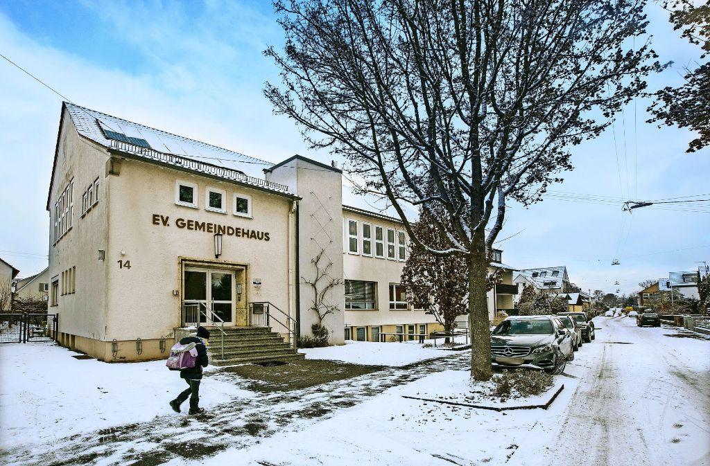 Der Kindergarten im Erdgeschoss  des  Eugen-Schumacher-Gemeindehauses stellt  im Sommer 2019   seinen Betrieb ein. Foto: Horst Rudel