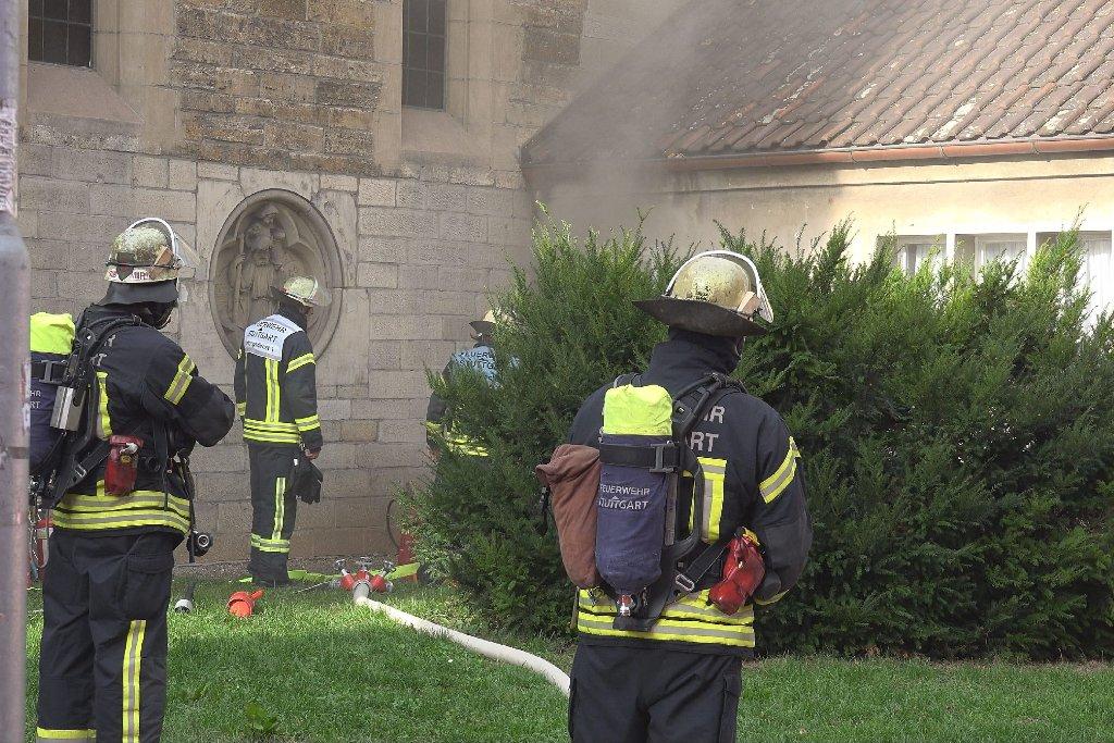 Ein Kurzschluss an der St.-Katharina-Kirche in Stuttgart-Mitte hatte am Donnerstag weitreichende Auswirkungen. Foto: www.7aktuell.de |