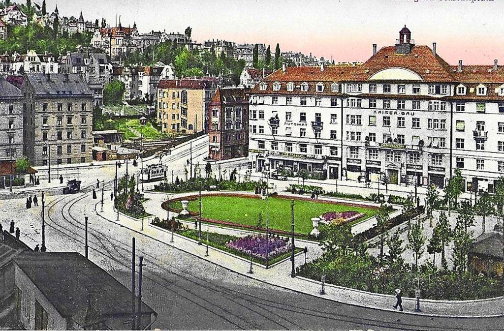 Der Marienplatz mit grüner Rasenfläche im Jahr  1917 Foto: Sammlung Wibke Wieczorek