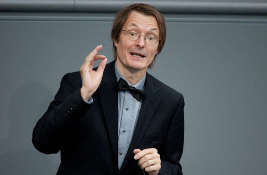 SPD-Gesundheitsexperte Karl Lauterbach ist für die Bürgerversicherung - die Union überhaupt nicht. Foto: dpa