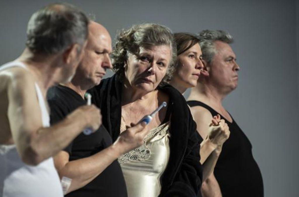 """""""Die Abweichungen"""" von Clemens J. Setz wurde im Kammertheater uraufgeführt. Foto: Björn Klein"""