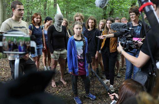 Schwedische Aktivistin besucht deutsches Braunkohlerevier