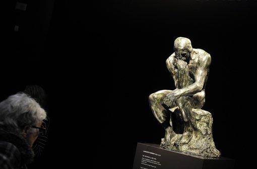Der Denker von Auguste Rodin war Teil eines psychologischen Experiments. Foto: dpa
