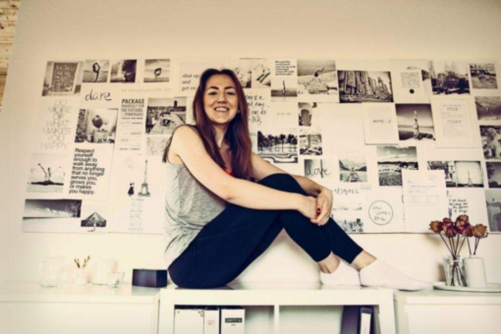 """Die 20-jährige Studentin Diana Scholl  erreicht mit ihrem Blog """"Fithealthydi"""" inzwischen 50000 Internetnutzer. Foto: Lichtgut/Leif Piechowski"""