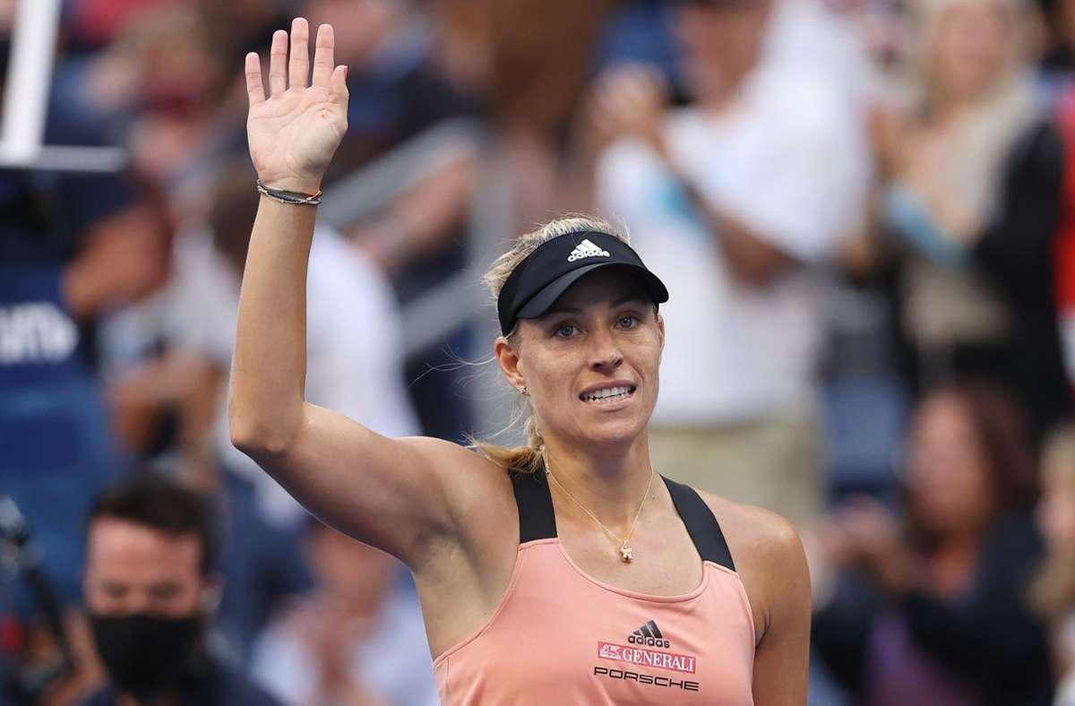 Angelique Kerber steht bei den US Open im Achtelfinale. Foto: AFP/MATTHEW STOCKMAN