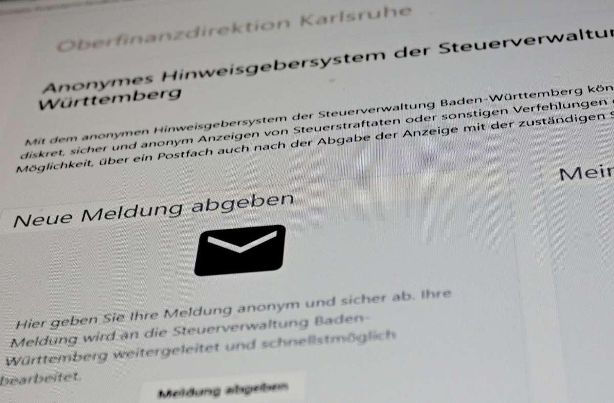 Das neue Meldeportal wird von Union, FDP und AfD massiv kritisiert. Foto: dpa/Bernd Weißbrod