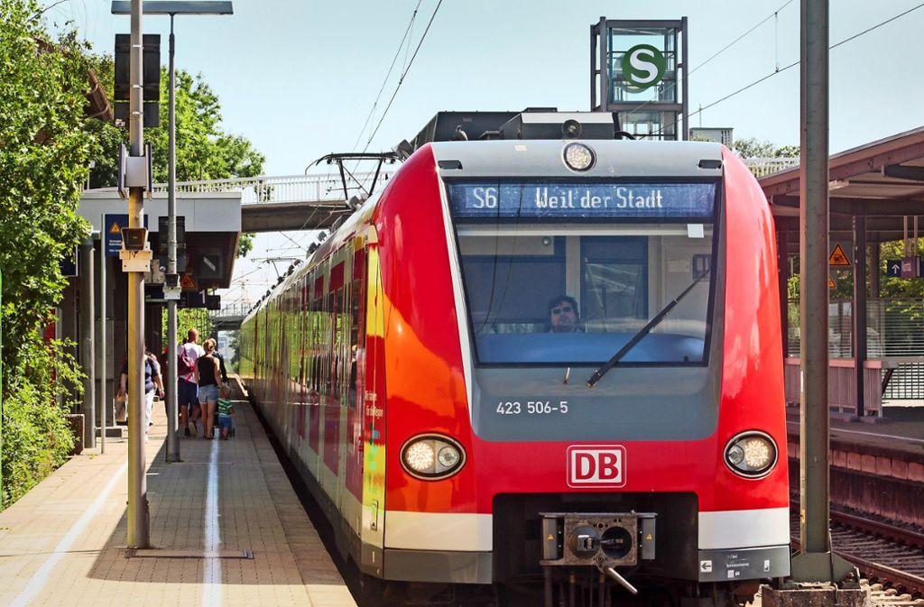 Ziel Weil der Stadt: Irgendwann könnte die S-Bahn weiter bis nach Calw fahren. Foto: factum/Archiv