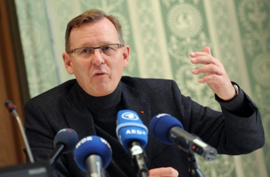 Der Thüringer Fraktionsvorsitzende der Linken, Bodo Ramelow  Foto: dpa