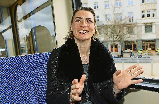Mit Alesia Graf auf Berg-und-Tal-Fahrt