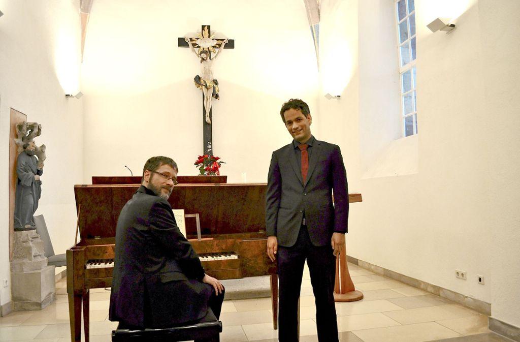 Marcus Elsäßer und Burkhard Pflomm (links) interpretierten Schubert. Foto: z