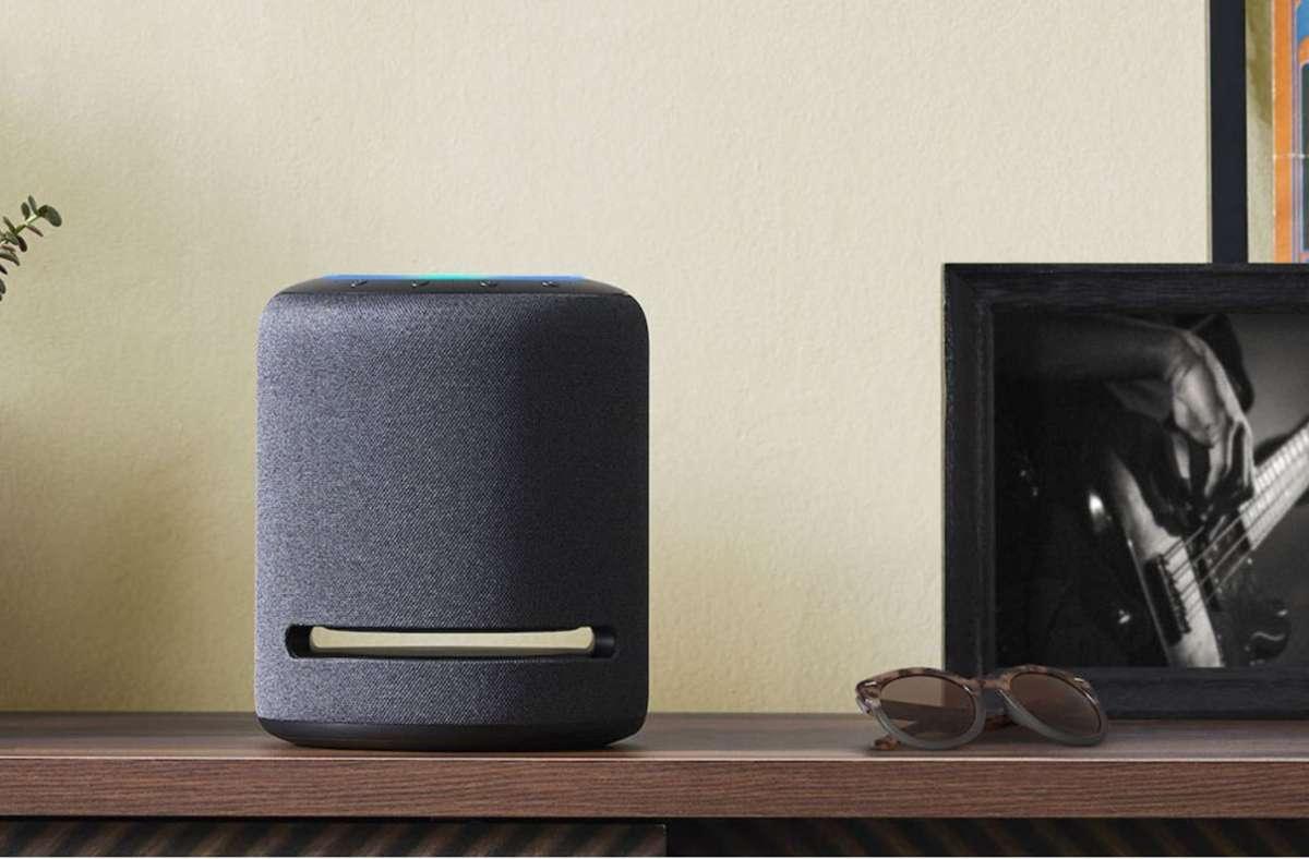 Mit Alexa-fähigen Geräten wie diesem Echo-Lautsprecher kann man künftig Hörfilme steuern. Foto: Amazon