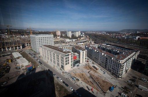 Auf dem  A-1-Areal – dem heutigen Europaviertel – sind bereits viele Neubauten entstanden. Foto: Achim Zweygarth