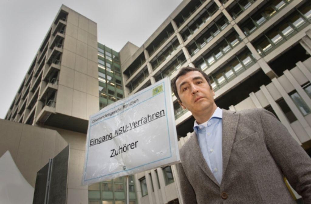 Grünenchef Cem Özdemir war am Donnerstag beim NSU-Prozess in München. Foto: dpa