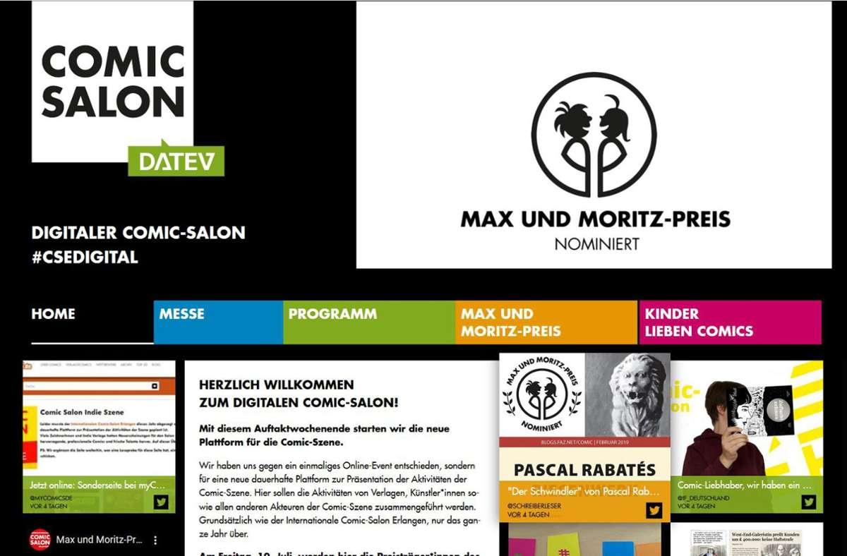 Mit einem neuen, vielfältigen Angebot im Netz reagiert der Comic-Salon Erlangen auf Corona. Foto: Comic-Salon/Birk Bodo