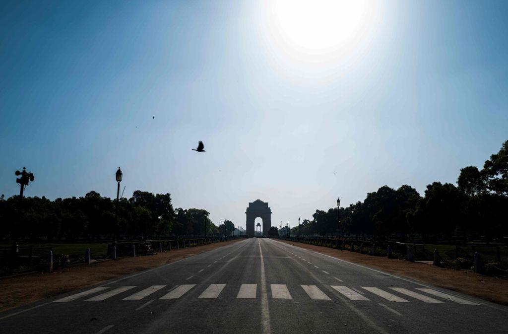 In Indien besteht seit 24. März eine Ausgangssperre. (Symbolbild) Foto: AFP/JEWEL SAMAD