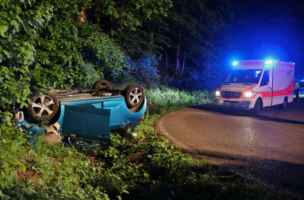 Der Unfall ereignete sich auf der Kreisstraße zwischen Baach und Bürg. Foto: 7aktuell.de/Kevin Lermer