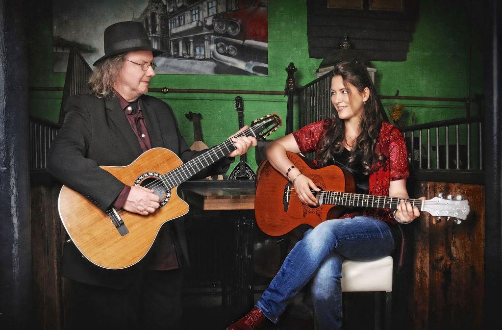 Das Duo Pièrrolo spielt in Urbach World Folk Jazz. Foto: Veranstalter