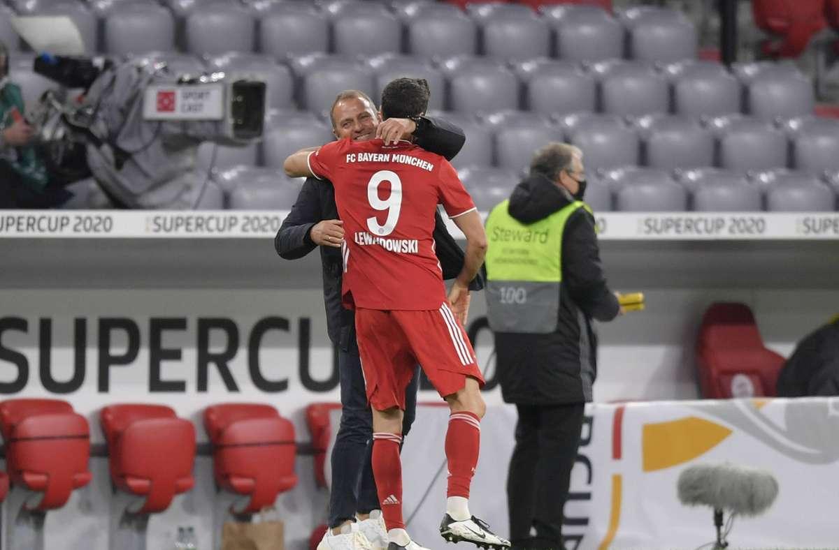 Robert Lewandowski ist Europas Fußballer des Jahres, Hansi Flick wurde als Trainer des Jahres geehrt. (Archivbild) Foto: Bernd Feil/M.i.S./Bernd Feil/M.i.S./Pool