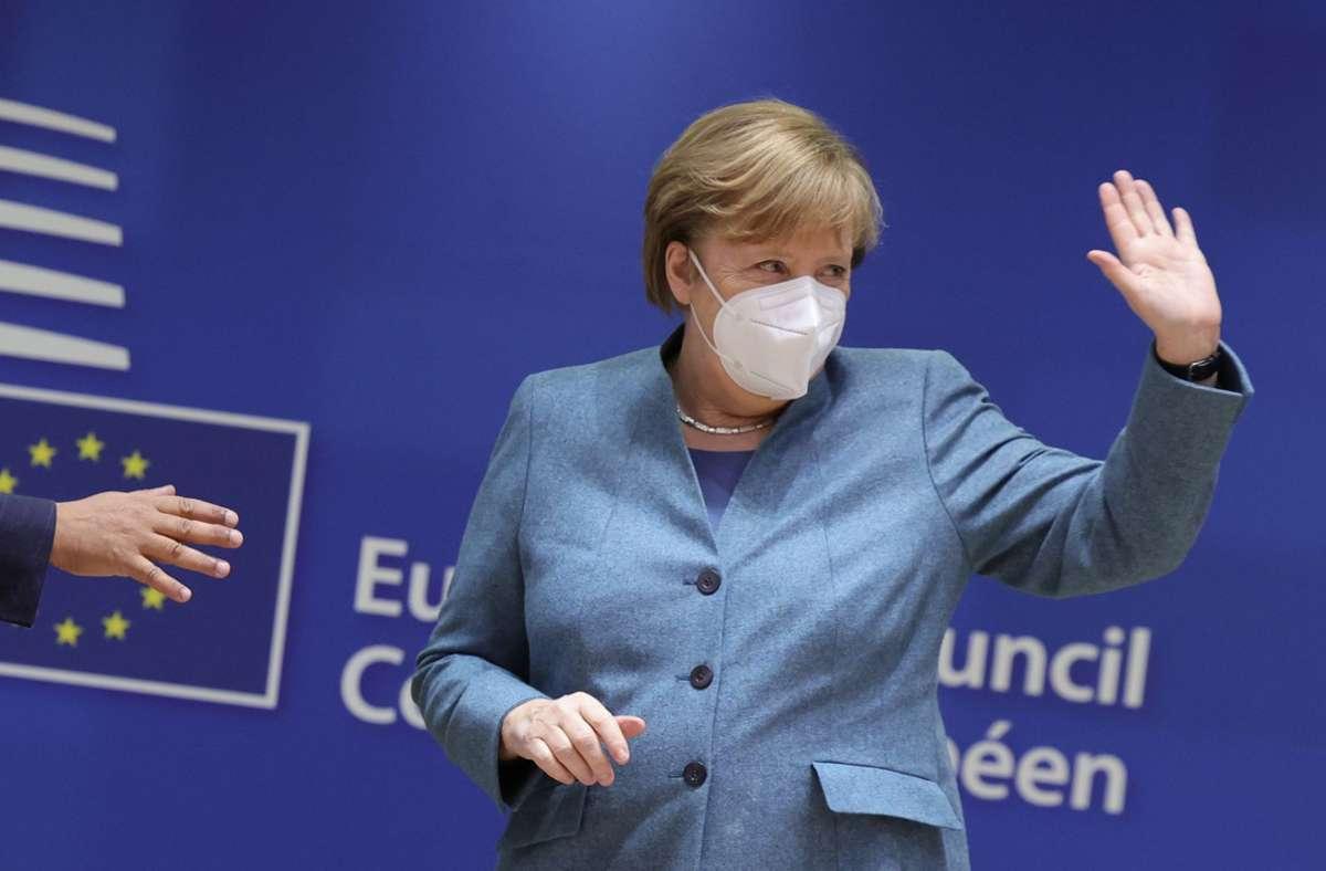 Angela Merkel hat sich mit ihrem Kompromiss durchgesetzt. Foto: dpa/Olivier Matthys