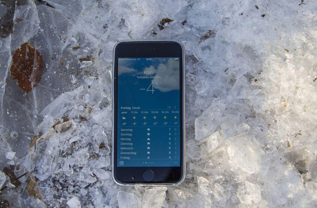 Elektronische Geräte und Kälte funktionieren meist nicht gut miteinander. Foto: imago/Eduard Bopp