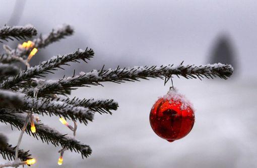 Wo es die Chance auf weiße Weihnachten gibt