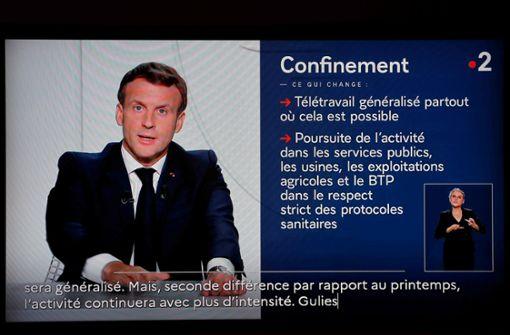 Neuer  Lockdown in Frankreich ab Freitag