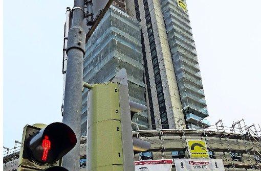 Arbeiten am Gewa-Tower kurzfristig unterbrochen