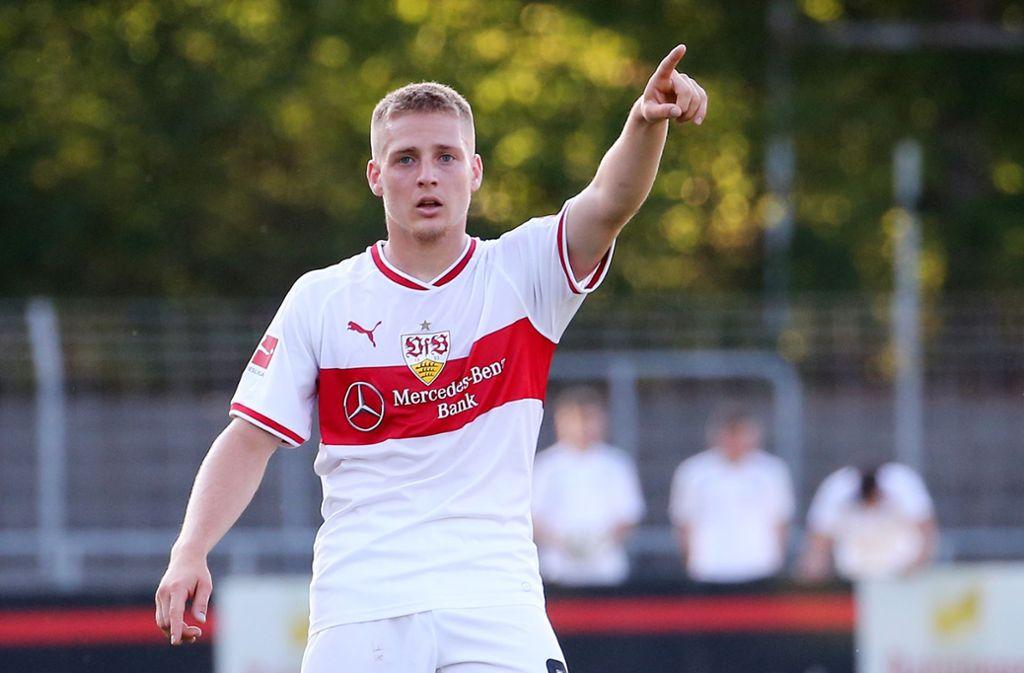 Santiago Ascacibar hat seinen Vertrag beim VfB Stuttgart verlängert. Foto: Pressefoto Baumann