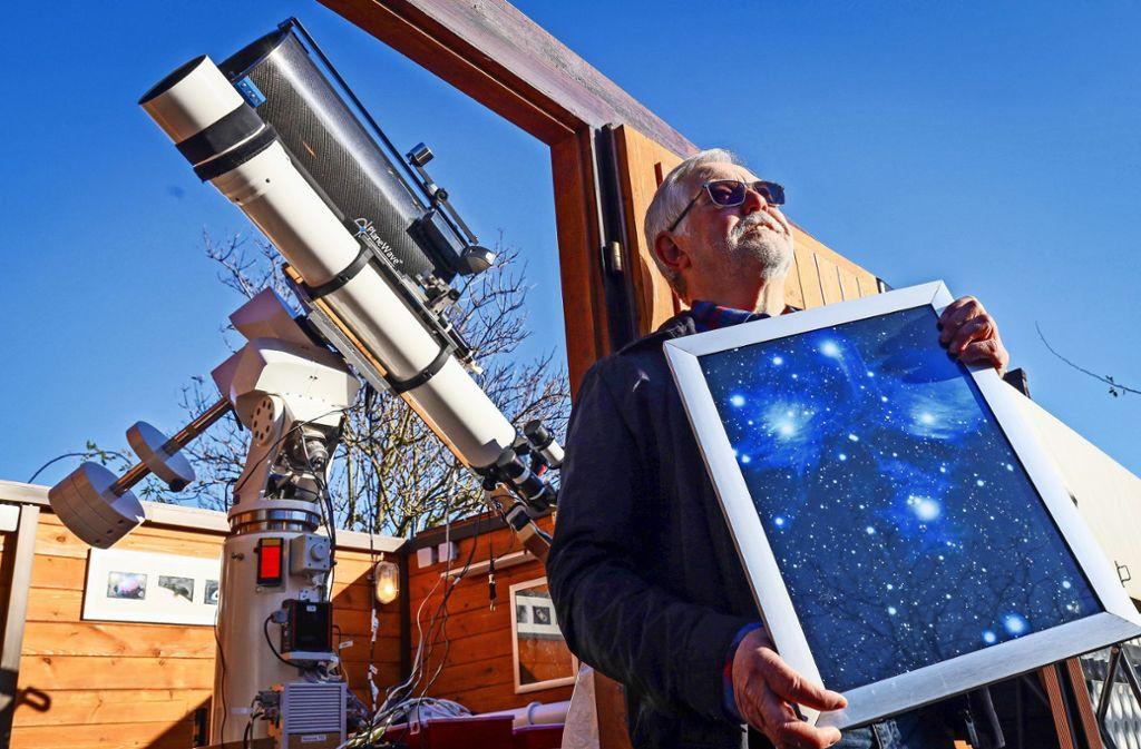 Die Astronomie fasziniert Günter Hoffarth schon lange. Mit zwölf Jahren bekam er sein erstes Teleskop. Foto: factum/Simon Granville