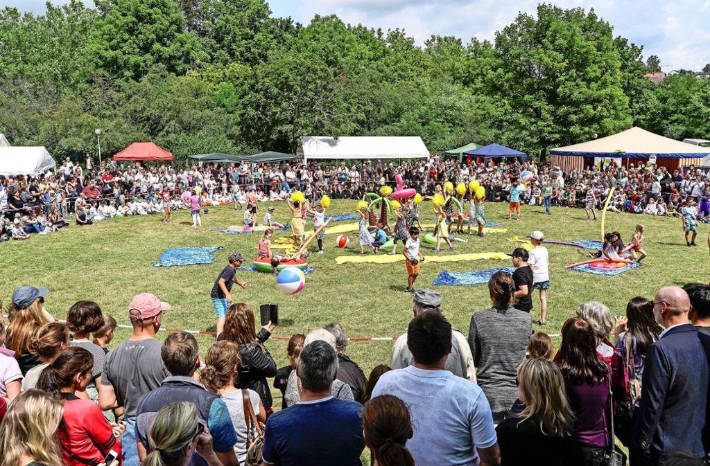 Am Samstag präsentieren die Leonberger Schulen ein buntes Programm im Stadtpark. Der Sonntag steht im Zeichen der internationalen Begegnung. Foto: factum/