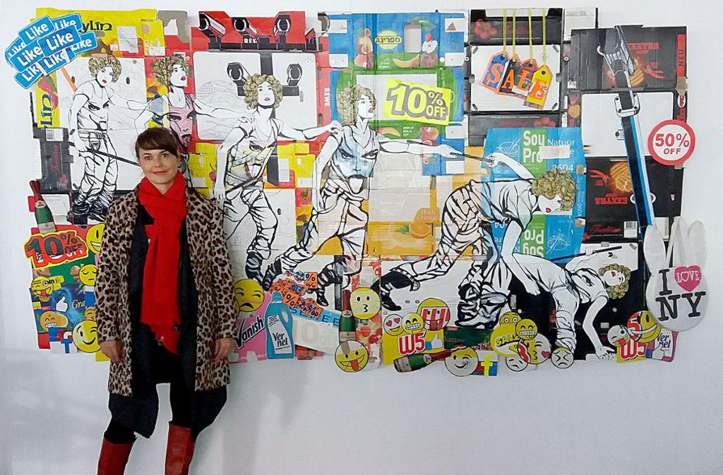 Danielle Zimmermann mischt derzeit die Galerie Braunbehrens auf. Foto: Galerie