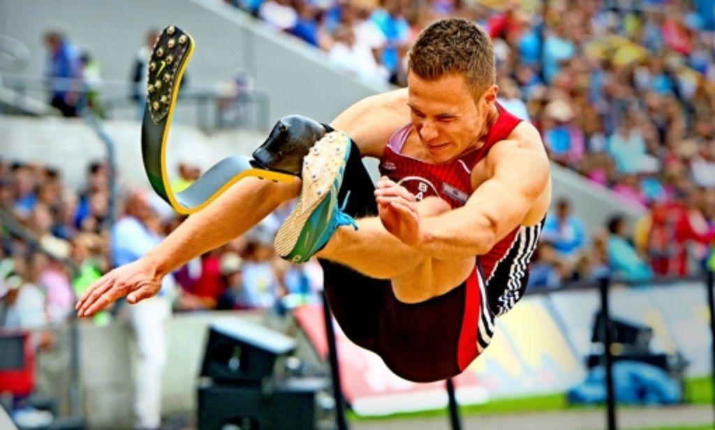Ob die Beinprothese Markus Rehm einen Vorteil verschafft, soll mit einer biomechanischen Messung festgestellt werden.  Foto: dpa