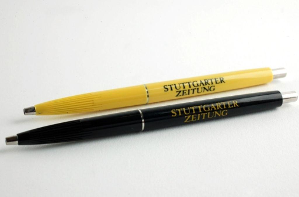Köstlich: an StZ-Kugelschreibern kann man besonders gut lutschen. Foto: