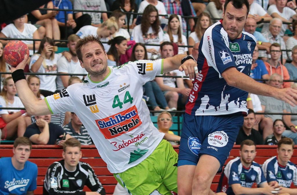 Überragender Mann in Solingen: Frisch-Auf-Kreisläufer Kresimir Kozina wirft acht Tore. Foto: Baumann