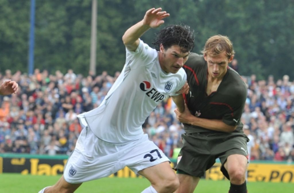 Duell im Liebknecht-Stadion 2010: Babelsberg gegen den VfB Foto: dpa