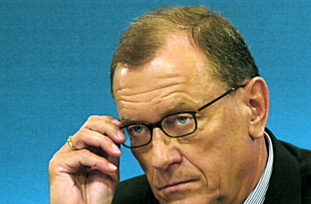Sein Abgang ließ 2005  die Börse jubeln: Jürgen Schrempp . Foto: dpa