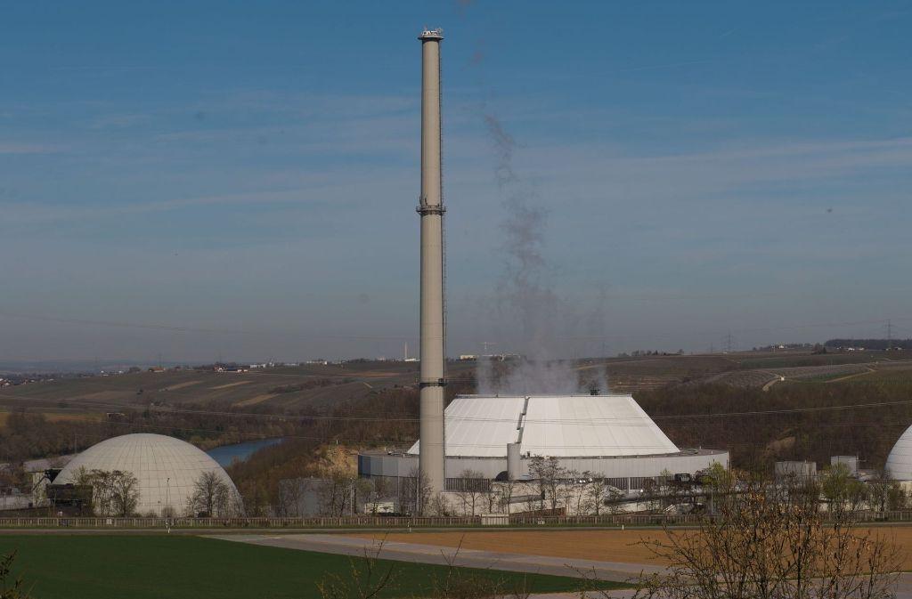 Das Atommüll-Zwischenlager Neckarwestheim Foto: dpa