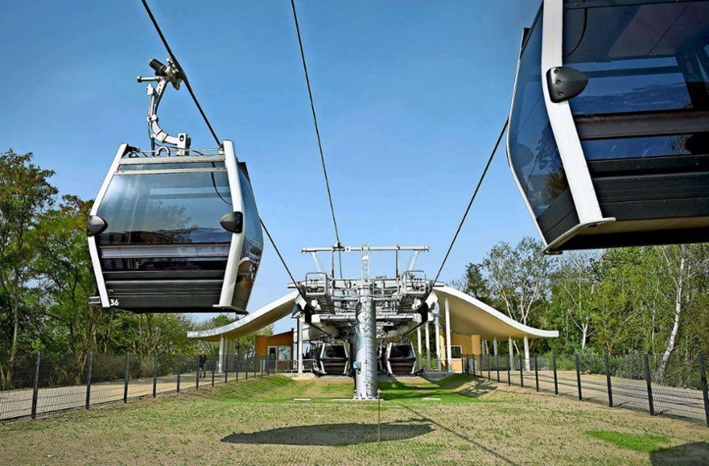 So eine Seilbahn (hier in Berlin) könnte auch in Stuttgart eine Zukunft haben. (Symbolbild) Foto: dpa