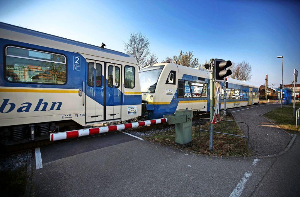 1992 wurde die Strecke zwischen Schorndorf und Rudersberg an den Zweckverband Wieslauftalbahn übergeben. Foto: / Stoppel/Archiv
