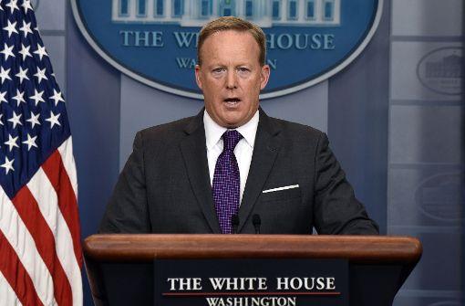 US-Medien: Sean Spicer tritt zurück