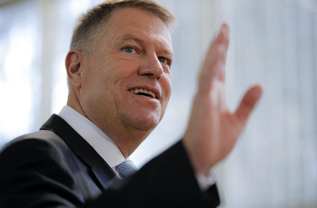 Amtsinhaber Klaus Johannis hat gute Chancen auf eine Wiederwahl. Foto: dpa/Vadim Ghirda
