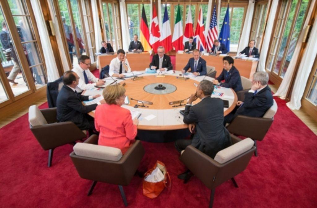 Die G7-Nationen haben ein Zwei-Grad-Ziel beim Klimaschutz angepeilt.  Foto: dpa POOL