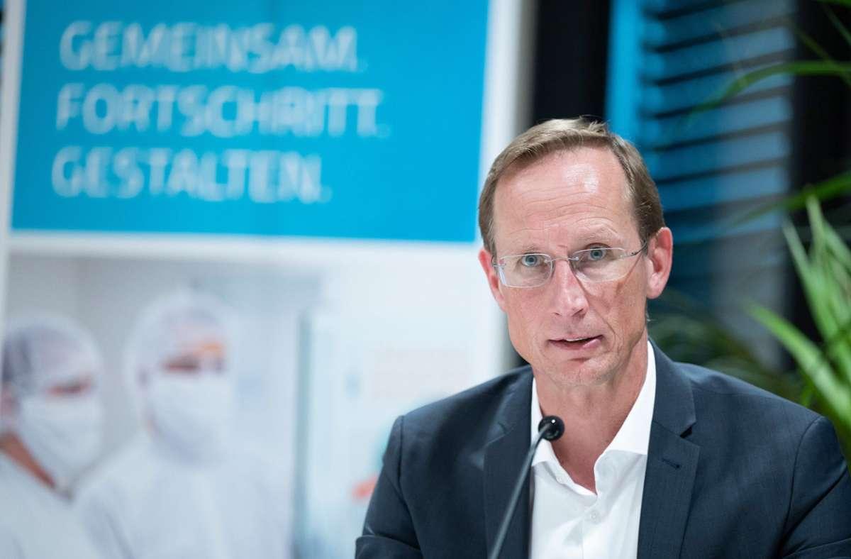 Franz-Werner Haas ist Vorstandschef bei Curevac. Foto: dpa/Bernd Weissbrod
