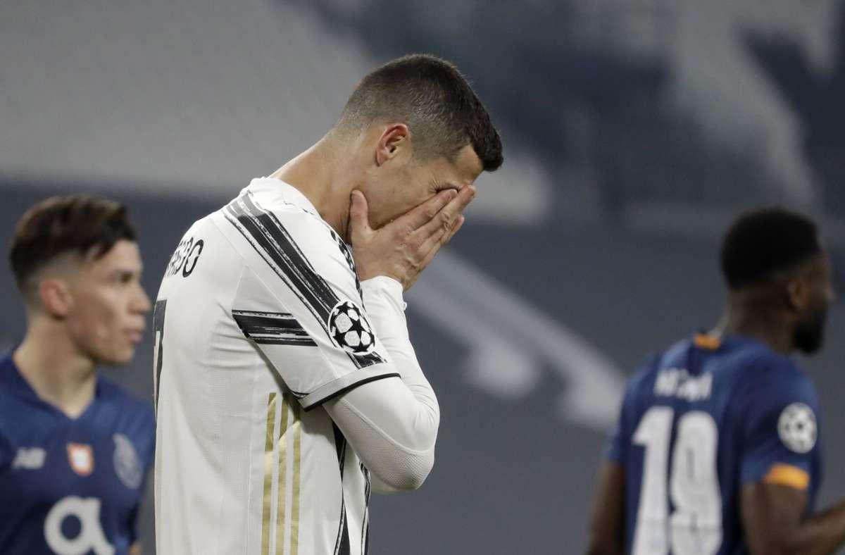 Cristiano Ronaldo wird auch dieses Jahr nicht die Champions League mit Juventus Turin gewinnen. Foto: dpa/Luca Bruno