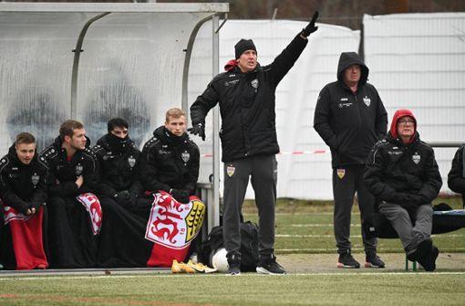 Trainer Frank Fahrenhorst freut sich über die Lerneffekte