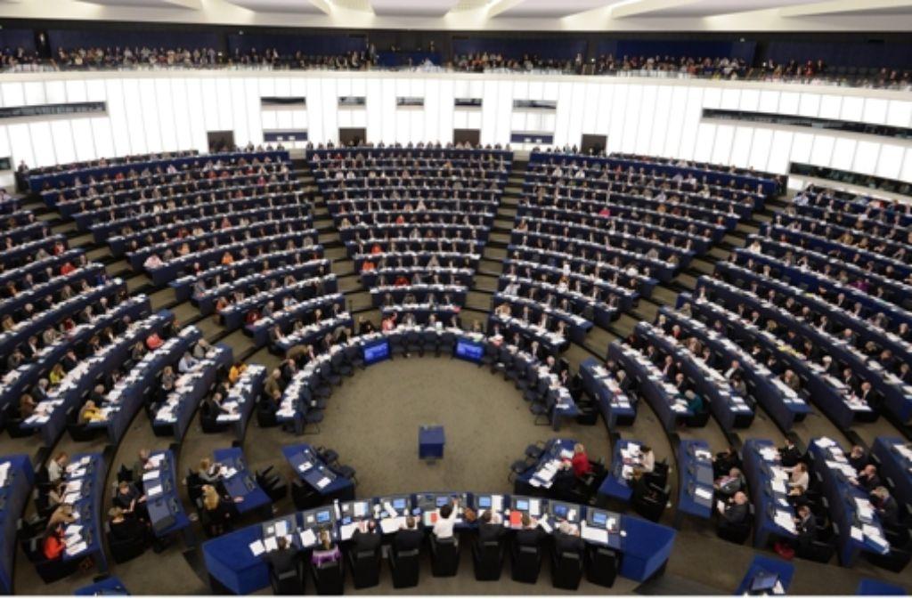 Blick ins EU-Parlament in Straßburg Foto: dpa