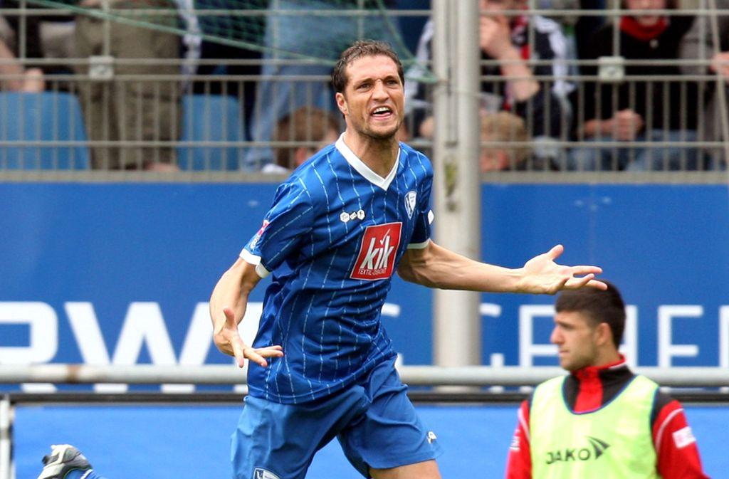 Diego Klimowicz im Dress des VfL Bochum. Kickt sein Sohn bald für den VfB Stuttgart? Foto: Getty