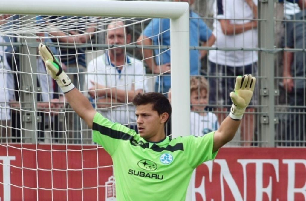 Daniel Wagner kehrt ins Kickers-Tor zurück. Foto: Baumann
