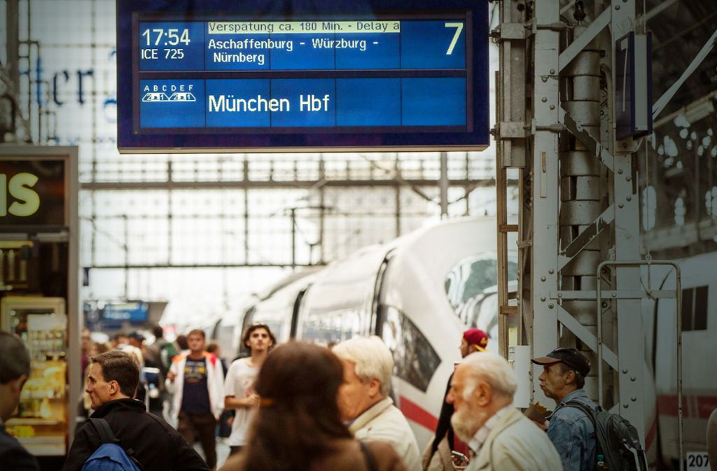 Die Bahn hat 2017 in rund 1,5 Millionen Fällen Kunden entschädigt Foto: dpa